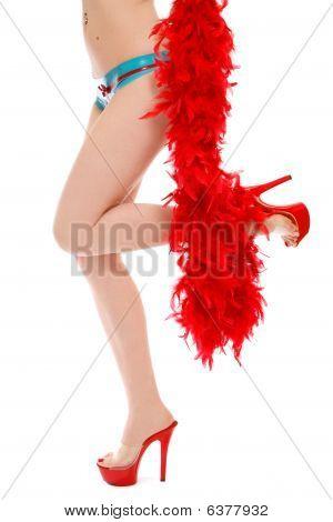 Sexy Legs In Red Stilettos