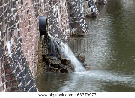 The Waterfall From A Drainpipe