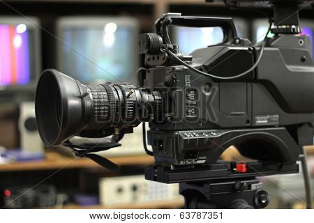 Professional camera on television