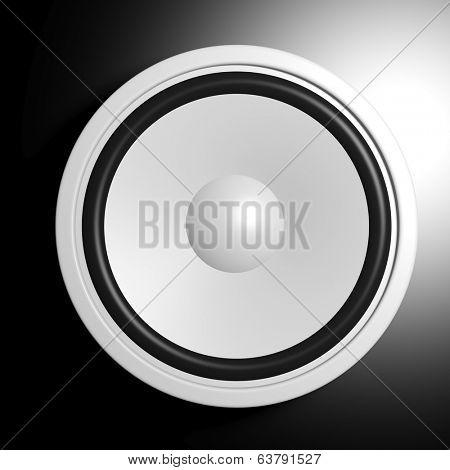 White speaker in black background