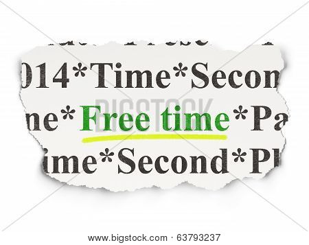 Time concept: Free Time on Paper background
