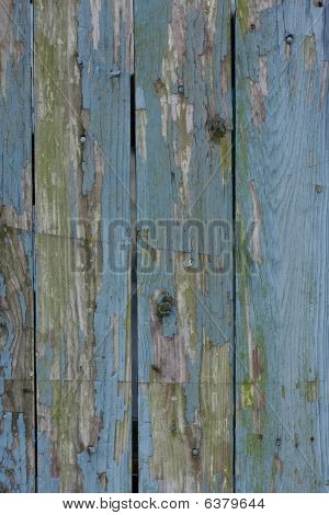 Faded Blue Wood