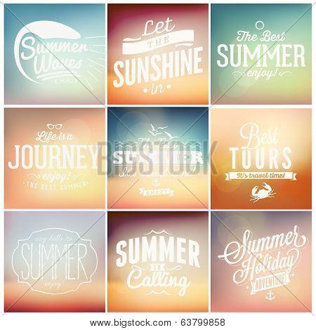 Summer calligraphic designs