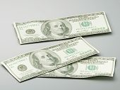 image of 100 dollars dollar bill american paper money cash stack  - Stacks of hundred dollar bills 3d illustration - JPG