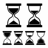 pic of sand timer  - Sand Glass Clock Icons Set - JPG