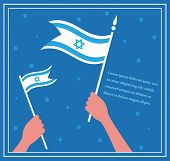 stock photo of hebrew  - Happy Israeli independence day - JPG