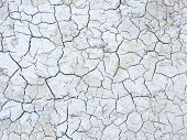 stock photo of mud  - Mud cracks dryness texture background - JPG