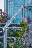 Romantic Door with weathered Steps poster