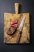 pic of deer meat  - venison steak - JPG