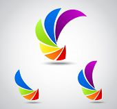 Постер, плакат: Set logo business colorful shutter