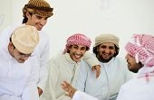 stock photo of bahrain  - Gulf Arabic Muslim people posing - JPG