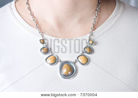Elegant Necklace At Woman Neck