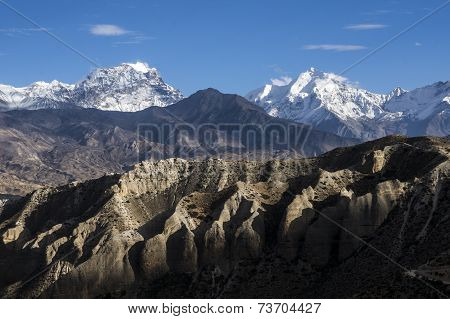 Play Of Light On The Mountains Of Upper Mustang.