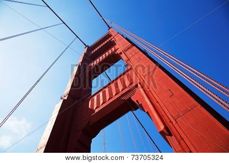 Golden Gate Bridge In Detail