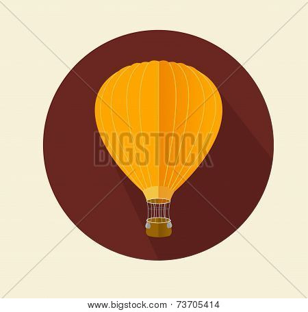 Vector air ballon icon flat