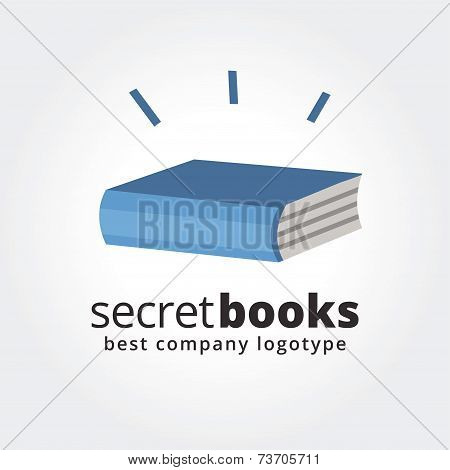 Abstract book logo icon concept isolated on white background for business design. Key ideas is busin
