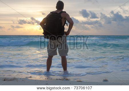 Enjoying A Caribbean Sunrise