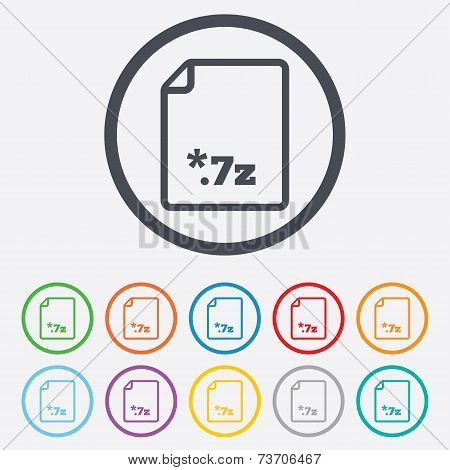 Archive file icon. Download 7z button.