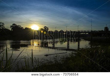 Sakaekrang River bridge