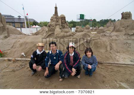 Sandsculptors of Charles Lindberg