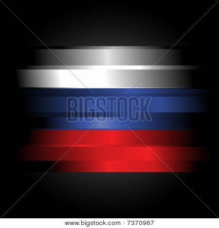 Abstract Flag Of Russia On Black Background