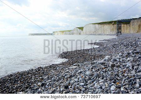 Chalk Cliffs In Sussex. England