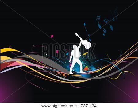 music men play a guitar