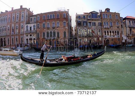 Gondola at Grand Canal: Venice, Italy