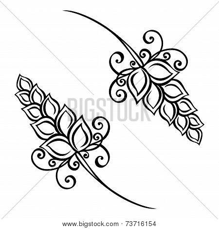 Vector Decorative Spikelets