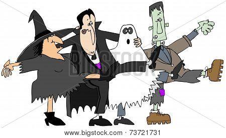 Halloween cancan