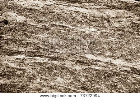 Muddy Texture Of A Stone Brown Beige Surface