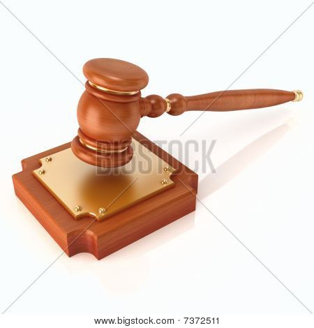 Wood gavel (3d render)