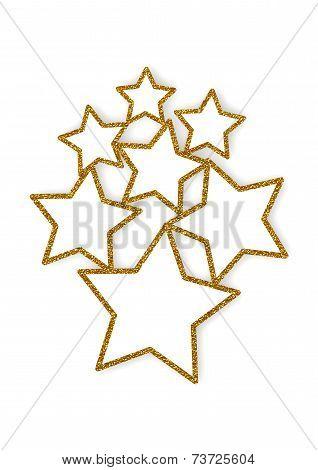 Glittering stars multiple frames