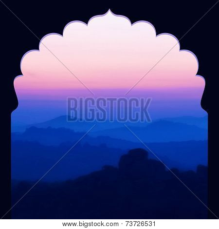 Sunrise in the mountains landscape.