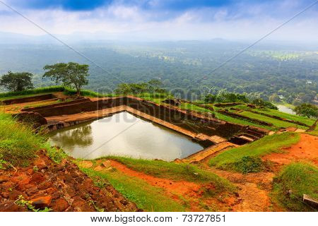 king's swimmig pool in Sigiriya. Sri Lanka
