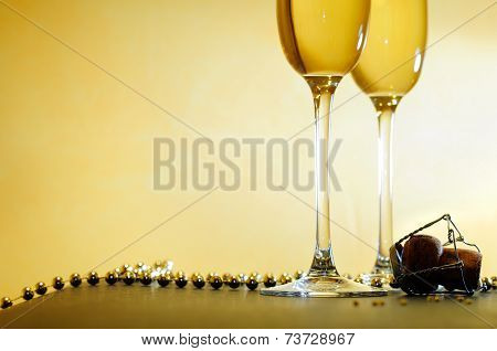 Event With Two Glasses And A Necklace