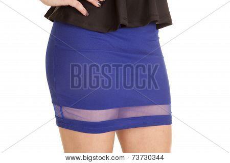 Close Up Blue Skirt Sheer