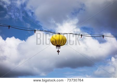 Yellow Lantern On Wire