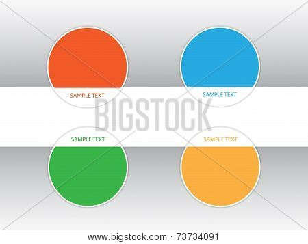 Vector design template. Colorful round labels.