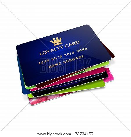 Loyalty Cards Isolated Over White