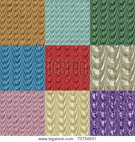 Set Of Drapery Seamless Generated Textures