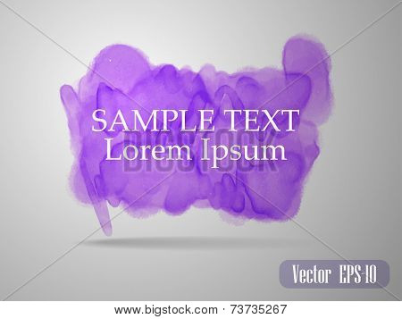 Template banner or card with Vector watercolor paint abstract ba