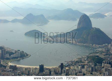 Rio de Janeiro city view of Sugar Loaf
