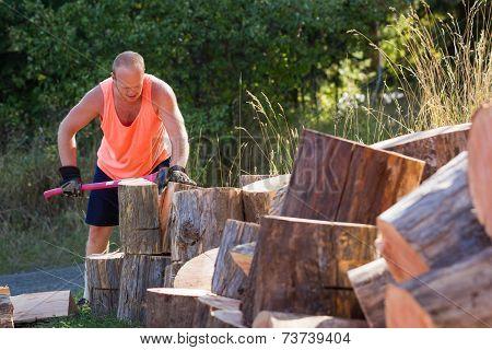Splitting Wood