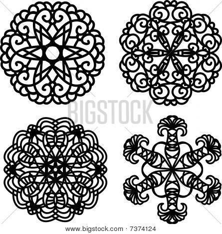 black vector ornaments