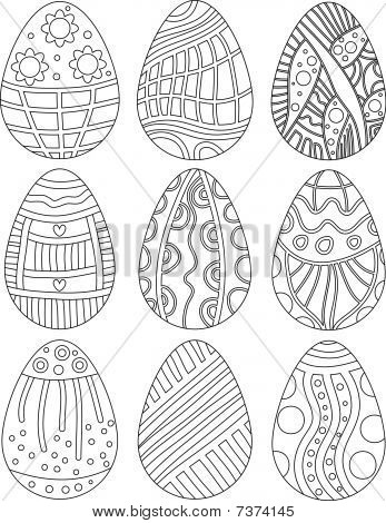 Vector Easter Egg Collection