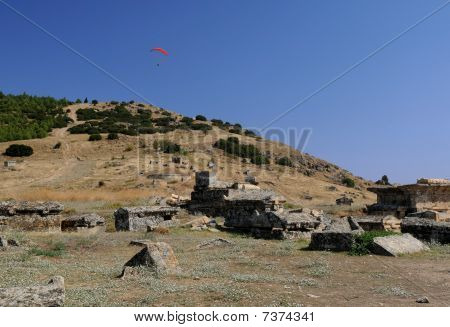 Paragliding Over Ancient Hierapolis