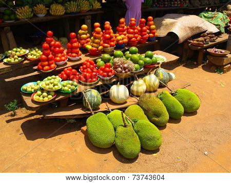 Green jackfruits