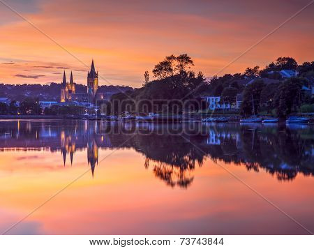 Truro Cornwall England Sunset