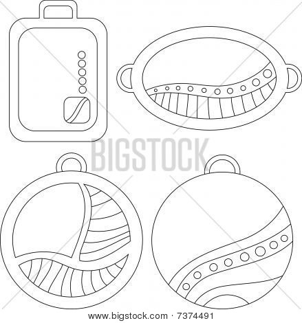 Beautiful vector tags or labels over white background